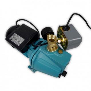 Wasserpumpe 60 l/min 1, 1 kW 230V mit Druckschalter und Manometer Jetpumpe Gartenpumpe Hauswasserwerk Kreiselpumpe