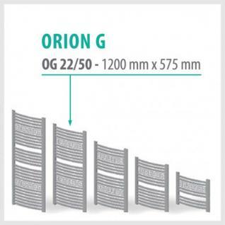 Orion-G Weiß - Badheizkörper Handtuchheizkörper Handtuchheizung Handtuchheizer (Höhe: 1200 mm)