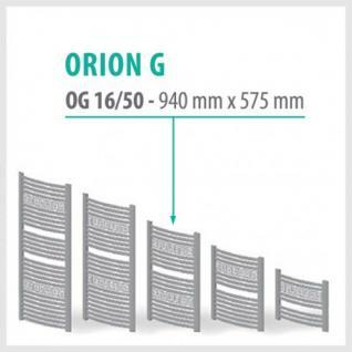 Orion-G Anthrazit - Badheizkörper Handtuchheizkörper Handtuchheizung Handtuchheizer (Höhe: 940 mm)