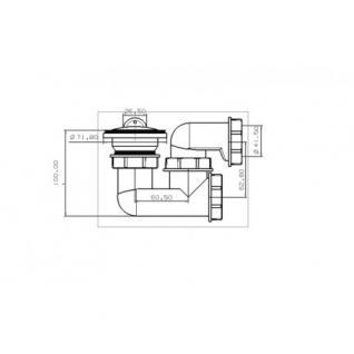 dusche ablaufgarnitur viega dn 50 24 l min ablaufbogen geruchsverschluss siphon sifon. Black Bedroom Furniture Sets. Home Design Ideas