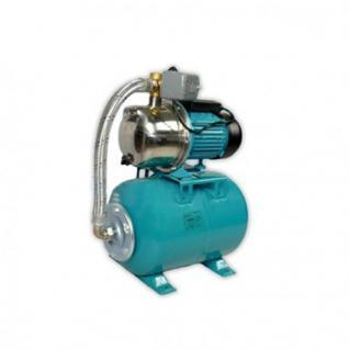 Wasserpumpe 1100W 60l/min 24 bis 100L Druckbehälter Gartenpumpe Hauswasserwerk Set (Druckbehälter: 24 L)