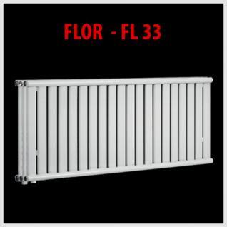 Design PANEELHEIZKÖRPER HEIZKÖRPER FLACH TOP FLOR - FL33-30/40 - 280x360mm (Höhe: 580 mm, Breite: 600 mm)