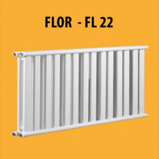 FLOR - FL22 Design PANEELHEIZKÖRPER HEIZKÖRPER FLACH TOP (Höhe: 580 mm, Breite: 1200 mm)