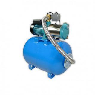 Wasserpumpe 1100W 60l/min 24 bis 100L Druckbehälter Gartenpumpe Hauswasserwerk Set (Druckbehälter: 80 L)