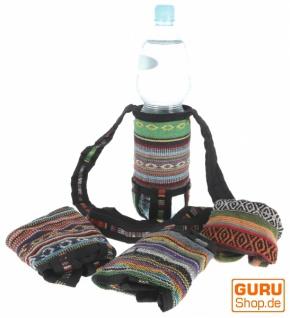 Wasserflaschen Tasche, Flaschenhalter Ethno - mix