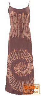 Batik Maxikleid, Strandkleid, Sommerkleid, langes Kleid - cappuccino