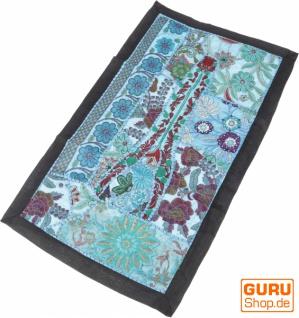 Indischer Wandteppich Patchwork Wandbehang, Tischläufer, Einzelstück 85*45 cm - Muster 20