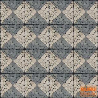 Mosaikfliese mit Quadraten aus Marmor (Mo-05) - Design 16 - Vorschau 3