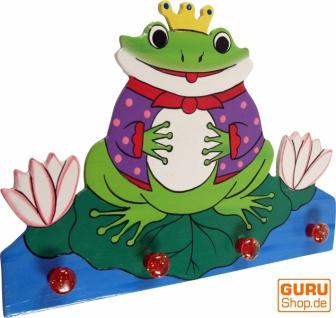 Bunte Kindergarderobe Wandhaken - Frosch