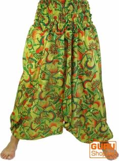 Leichte Haremshose Pluderhose Pumphose Aladinhose aus Sareestoff