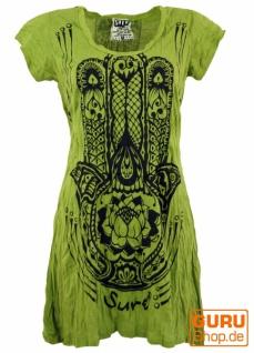 Sure Long Shirt, Minikleid Fatimas Hand - lemon
