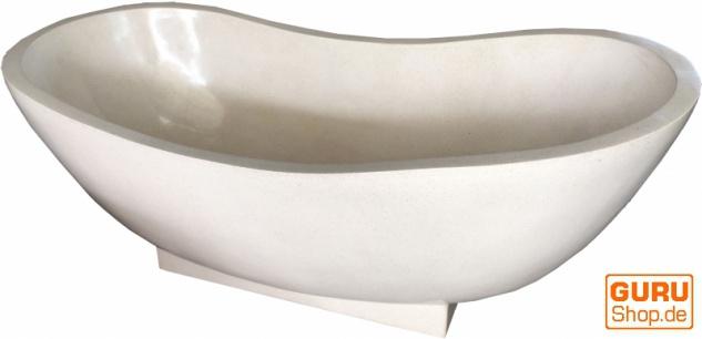 Freistehende Terrazzo (Stein Terrazo) Badewanne, beige, Sonderpreis