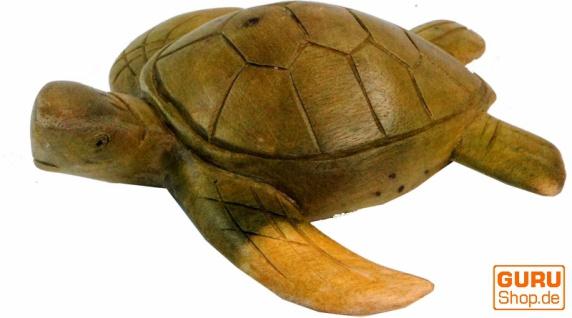 Geschnitzte Deko Schildkröte in 2 Größen - Vorschau 2