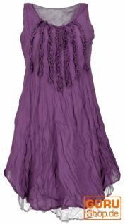 Boho Krinkelkleid, Lagenkleid, Minikleid, Sommerkleid, Strandkleid - flieder