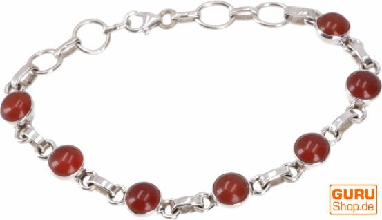 Indisches Boho Silber Armband - Karneol