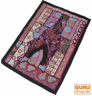 Indischer Wandteppich Patchwork Wandbehang/Tischläufer Einzelstück 90*65 cm - Muster 2