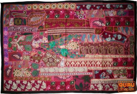 Indischer Wandteppich Patchwork Wandbehang, Einzelstück 150*100 cm - Muster 14
