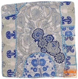 Patchwork Kissenhülle, Dekokissen Bezug aus Rajasthan, Einzelstück - Muster 22
