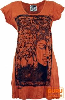 Sure Long Shirt, Minikleid Mantra Buddha - rostorange