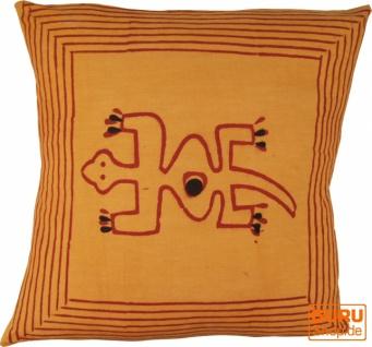 Kissenbezug Blockdruck, Dekokissen Bezug, Kissenhülle Ethno, Traditionelle Herstellung - Muster 20