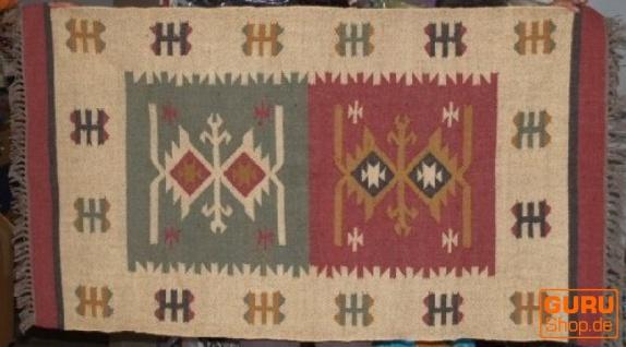 Orientalischer grob gewebter Kelim Teppich 160*90 cm - Muster 8