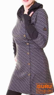 Tunika aus Bio-Baumwolle / Chapati Design - black/grey