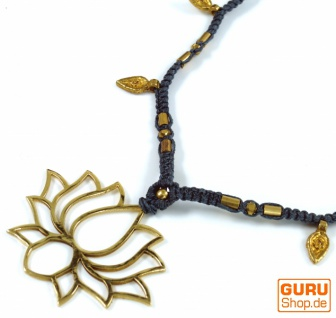 Makramee Kette Blume des Lotus