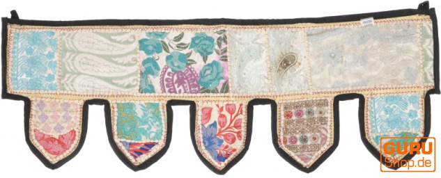 Orientalischer Wandbehang, indischer Toran, Wimpel Wandteppich, Wanddekoration, Tür Deko Einzelstück 90*30 cm - Design 28