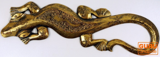 Wandgecko, Maske goldfarben 50 cm - Modell 1
