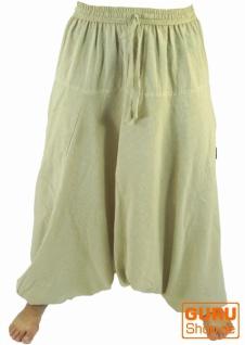 Haremshose Pluderhose Pumphose Aladinhose aus Baumwolle - beige