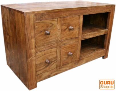 Fernsehschrank Kommode, Sideboard aus Massiv Holz - Modell 2