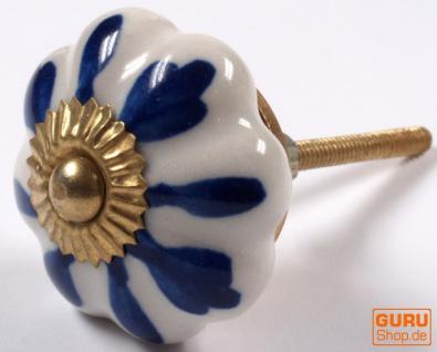 Möbelknopf Rose aus Keramik, Möbelknauf Möbelgriff, Schranktürknöpfe, Möbelknöpfe, Schubladengriff - Modell 20