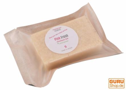 Handgemachte Duftseife mit Himalayasalz, 100 g Fair Trade - Pink fresh