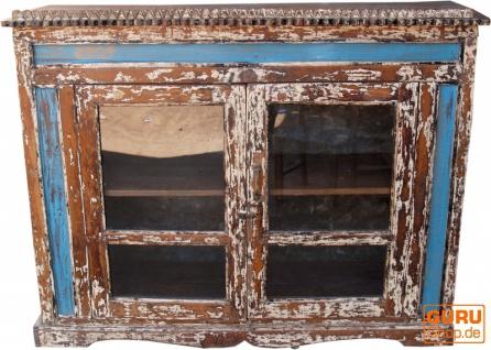 Glastür Kommode aus Recycel-Holz - Modell 2