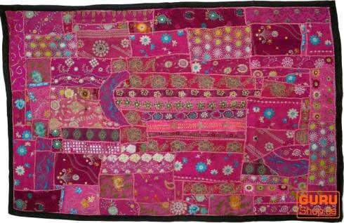 Indischer Wandteppich Patchwork Wandbehang, Einzelstück 150*100 cm - Muster 19