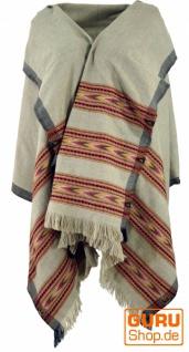 Indischer Schal / Stola, Ethno Tuch/Decke - grau