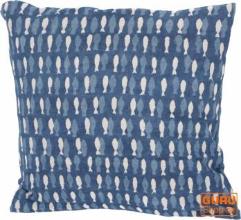 Kissenbezug Blockdruck, Dekokissen Bezug, Kissenhülle Ethno, Traditionelle Herstellung - Muster 19