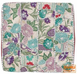 Patchwork Kissenhülle, Dekokissen Bezug aus Rajasthan, Einzelstück - Muster 48