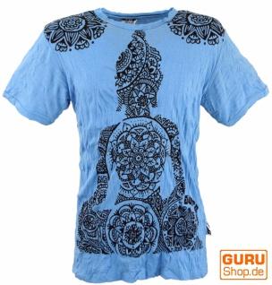 Sure T-Shirt Mandala Buddha - hellblau