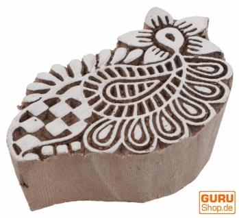 Indischer Textilstempel, Stoffdruckstempel, Blaudruck Stempel, Holz Model - 5*8 cm Paisley 4