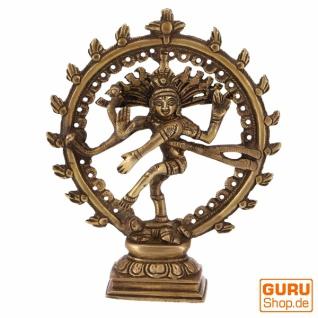 Messingfigur, Statue Shiva im Feuerkranz 17 cm - Motiv 11 - Vorschau 1