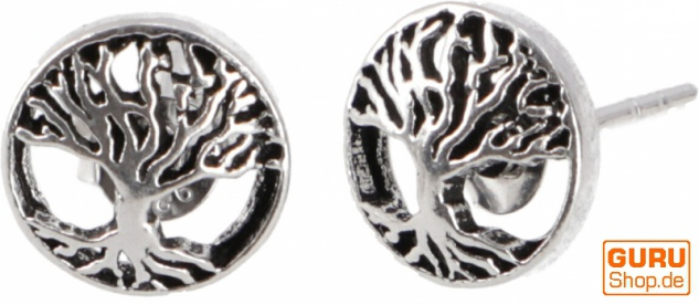 Silberne Ohrringe, Ohrstecker aus Silber `Tree of Life`- Model 2