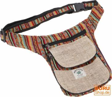 Hanf Ethno Sidebag, Nepal Gürteltasche - Modell 6