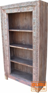 Aufwendig verziertes Bücherregal im Vintage Look - Modell 15