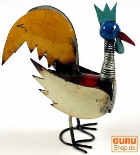 Upcycling Dekofigur Chicken, handgefertigt in Bali - Design 3