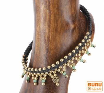 Fußkette Makrameee mit Perlen - Modell 1