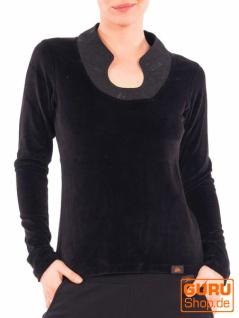 Pullover aus Bio-Baumwolle / Chapati Design - black