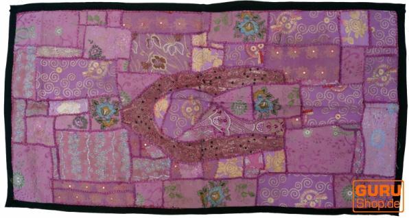 Indischer Wandteppich Patchwork Wandbehang/Tischläufer Einzelstück 125*65 cm - Muster 14