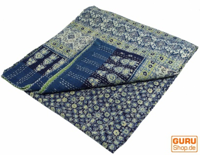 Quilt, Steppdecke, Tagesdecke Bettüberwurf, Besticktes Tuch, Indischer Bettüberwurf, Tagesdecke - Muster 31