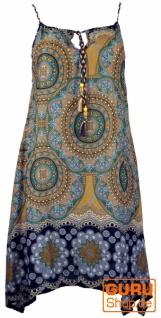 Boho Dashiki Midikleid, Trägerkleid, Strandkleid für starke Frauen - goldgelb